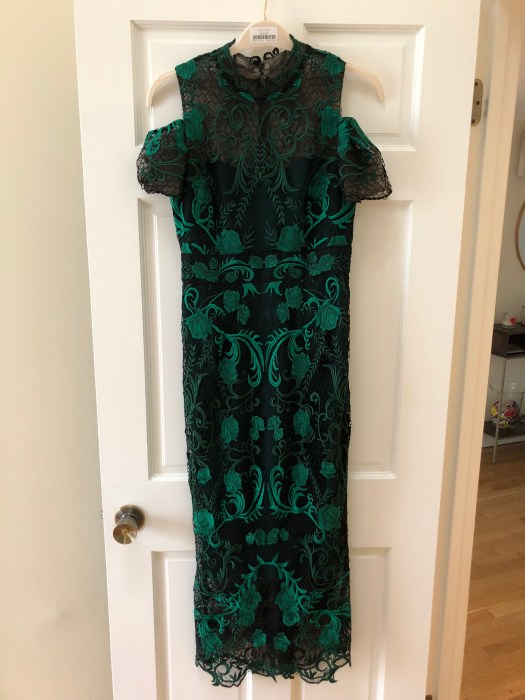 Rent the Runway: Marchesa Notte Green Lace Cocktail Dress