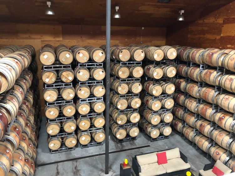 Peju Winery wine barrels