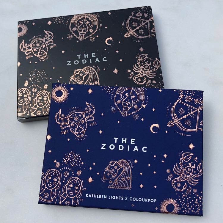 Kathleen Lights x ColourPop The Zodiac Pressed Powder Shadow Palette and packaging