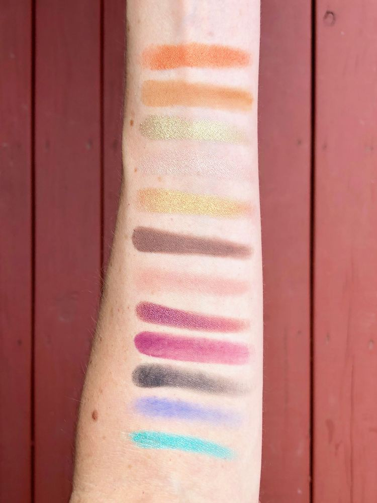 ColourPop x Kathleen Lights The Zodiac Pressed Powder Shadow Palette swatches