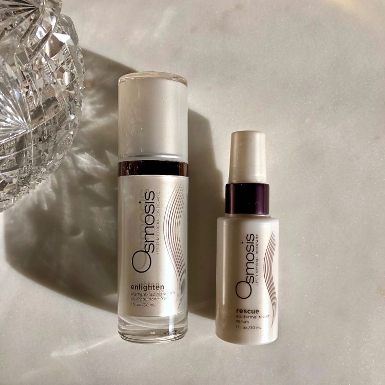 Osmosis Skincare Enlighten and Rescue serums