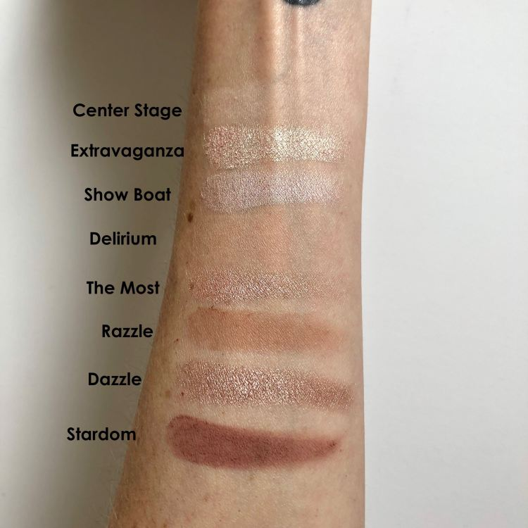 ColourPop Fame Eyeshadow Palette swatches