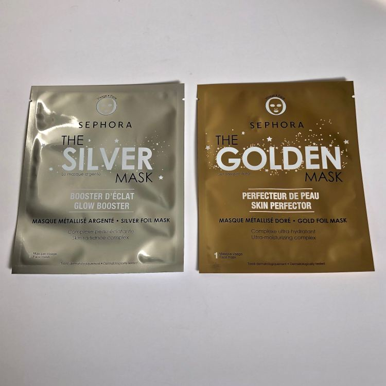 SEPHORA COLLECTION SUPERMASK - The Silver Mask and The Golden Mask