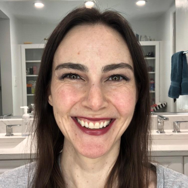 Bite Beauty Lipstick - Rhubarb on my lips