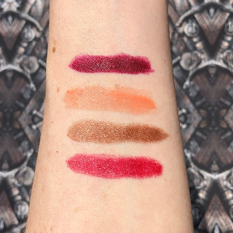 Urban Decay Game of Thrones Vault Vice Lipstick Swatches