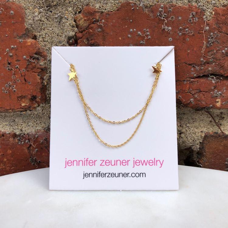 Jennifer Zeuner Jewelry Star Double Necklace   FabFitFun