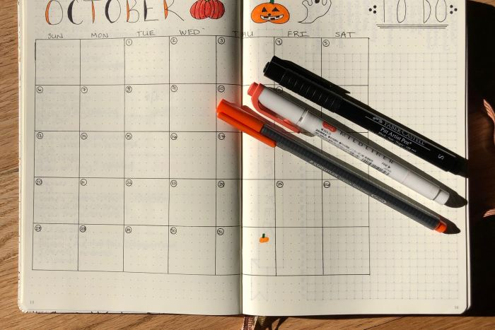 October Bullet Journal