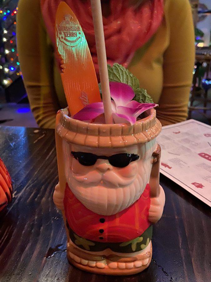 Santa tiki glass