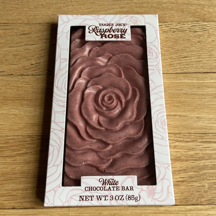 TJ's Rose White Chocolate Bar