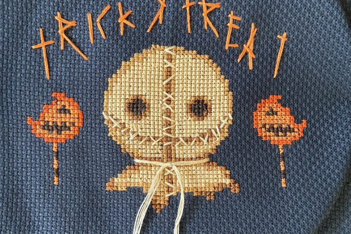 Trick 'r Treat cross stitch