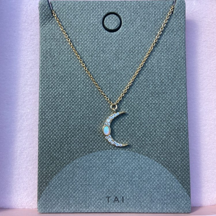 Tai crescent moon necklace