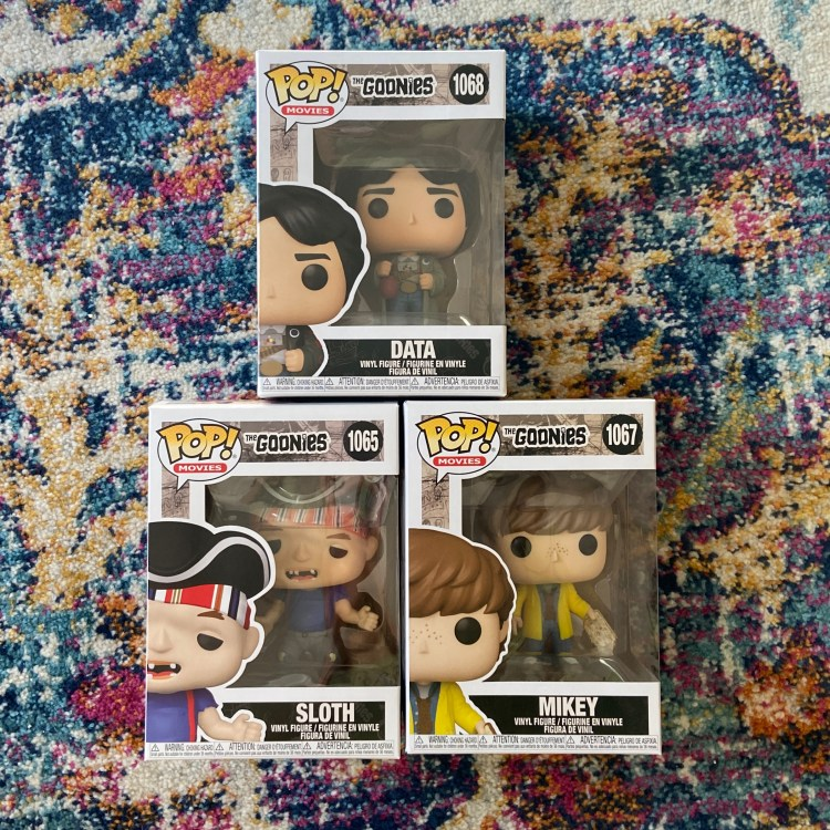 The Goonies Funko Pops: Data, Sloth, Mikey