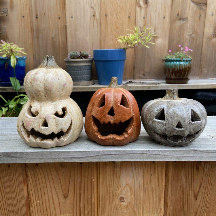 clay jack-o-lanterns