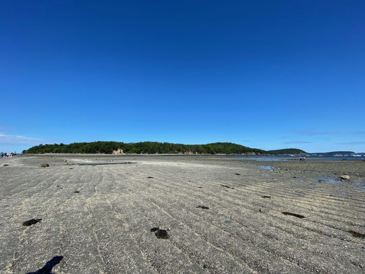 Bar Island seen from the gravel path