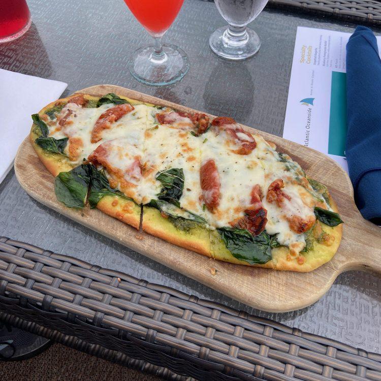 Flatbread pizza at the Atlantic Oceanside bistro