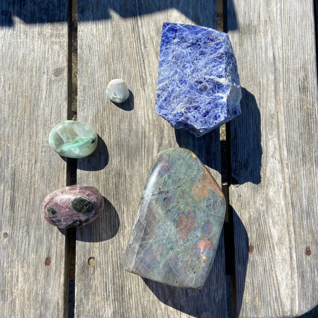 Gemstones from a rock shop
