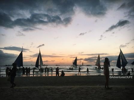 Sunset at the White Beach