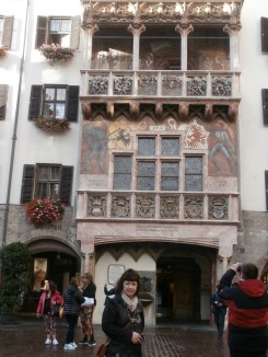 Mom at the Goldenes Dachl (The Golden Roof)