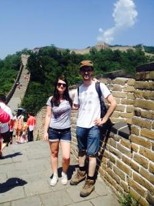 On the Great Wall for the second time
