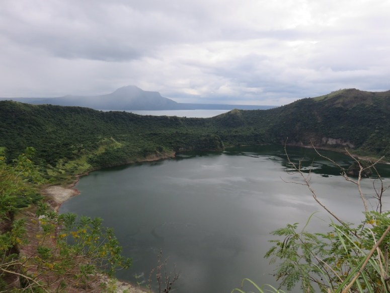 View over crater lake at Taal Volcano