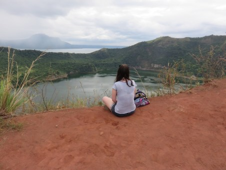 Looking over Taal Volcano, Philippines