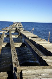 pier in the Strait of Magellan