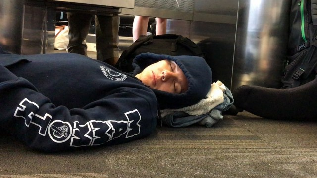Sleeping-At-Airport