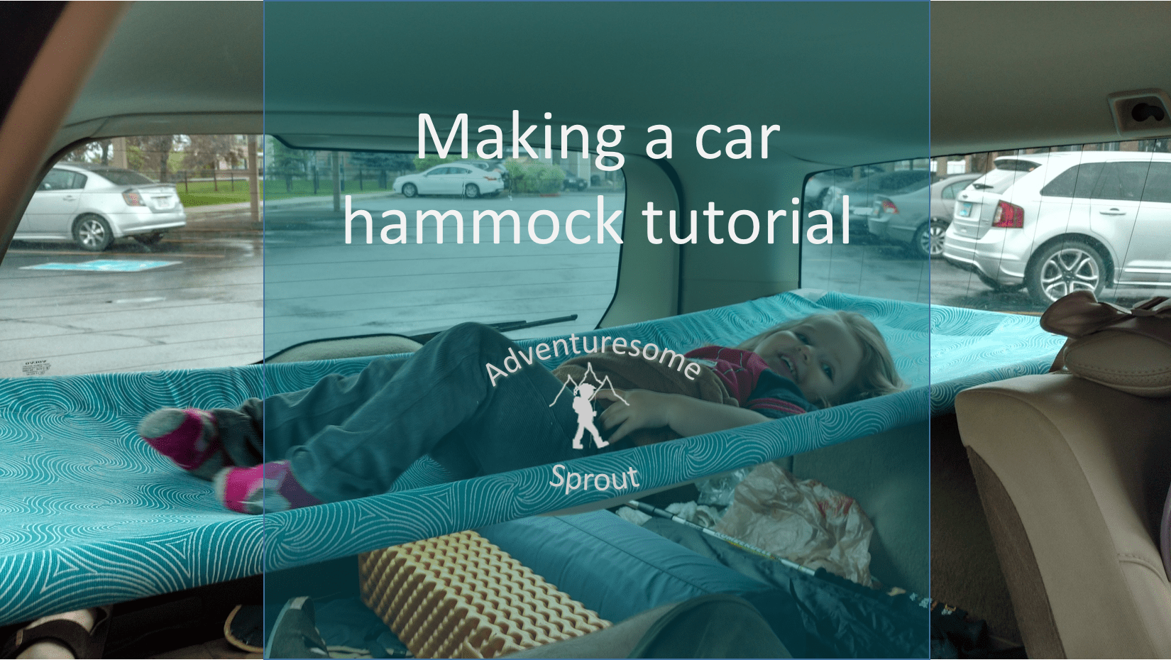 Tutorial: Hammock bed for car camping (in a Volvo wagon)