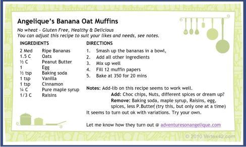 pic of banana oat muffins