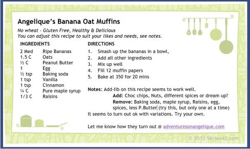 pic of banana oat muffins