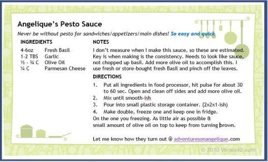 pic of pesto sauce