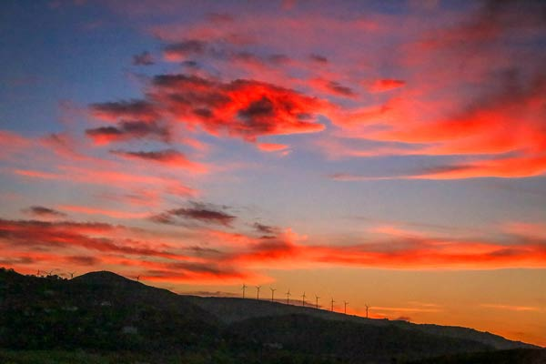 Morocco Sunset Windmills