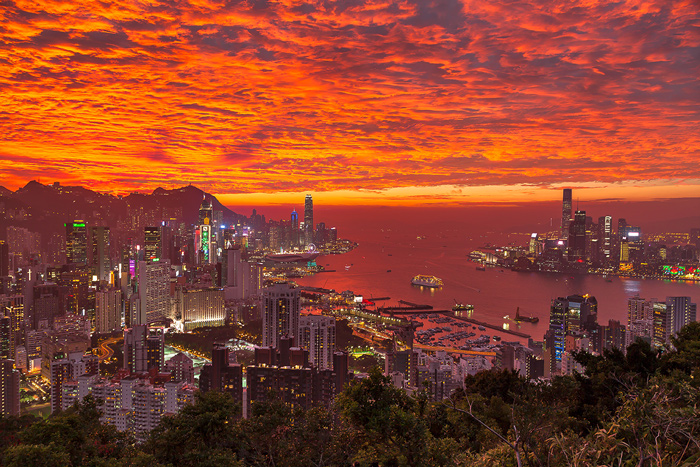 Hong Kong City Sunset