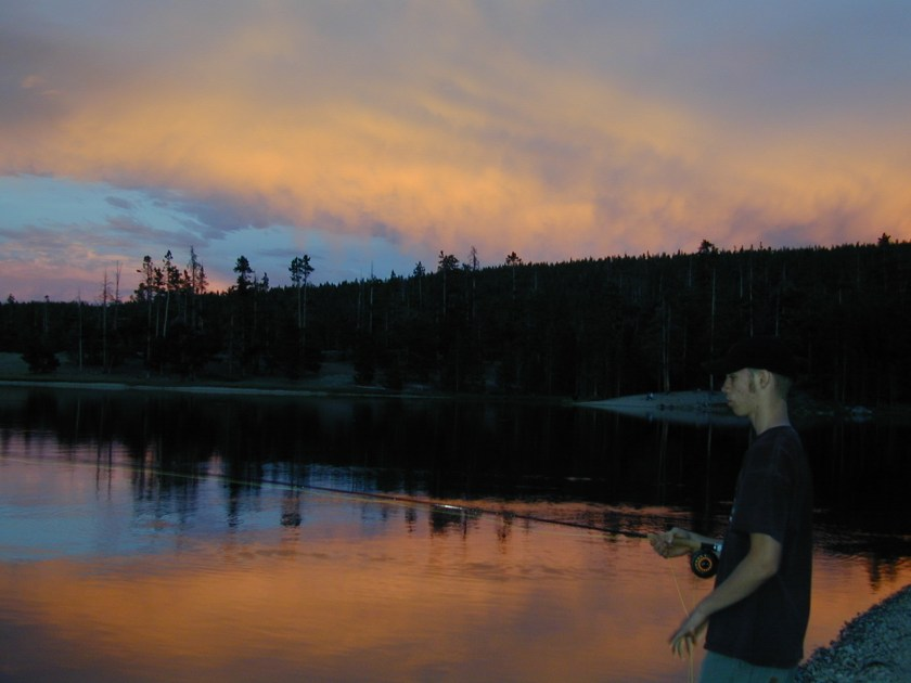 Fly fishing a Wyoming alpine lake