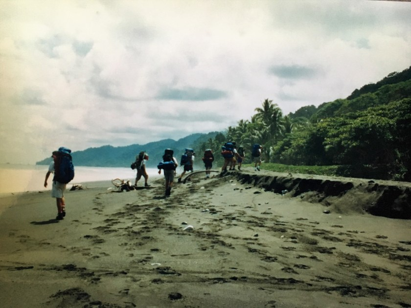 Backpacking on the Osa Peninsula beach