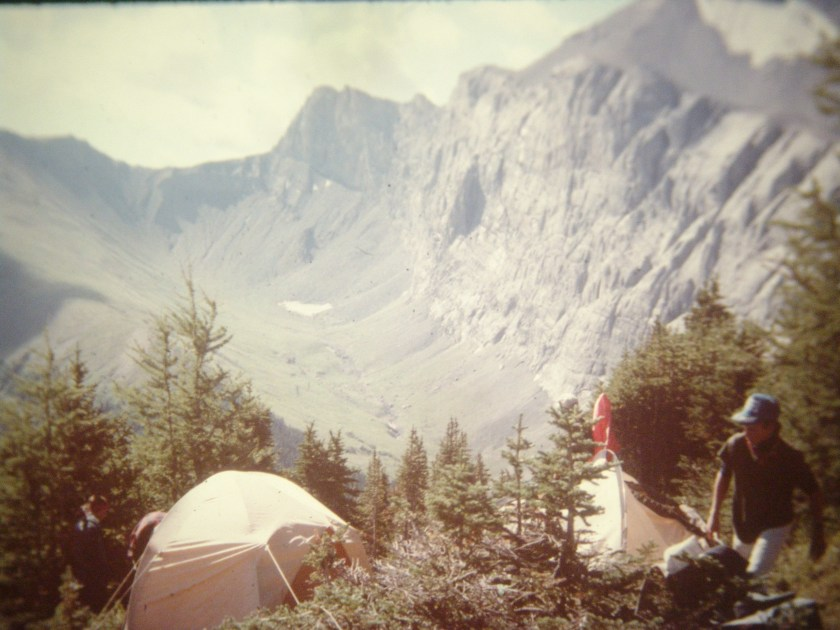 Camp at the end of a bushwhack