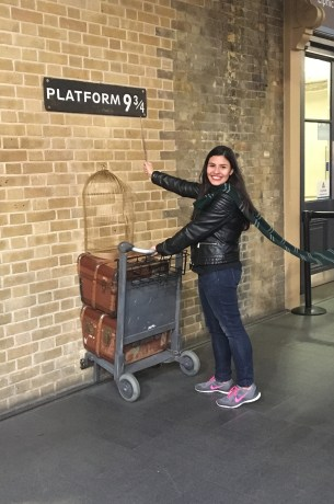 These shoes don't match the Slytherin aesthetic but I walked to King's Cross