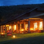 Kiangazi House - Main Lodge at night