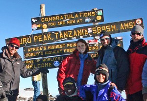 Kilimanjaro Summit Sign from June 2006
