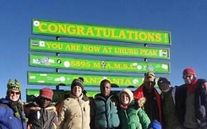 Kilimanjaro Summit Sign from July 2012