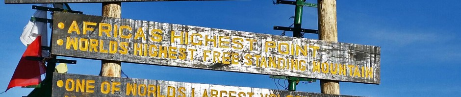 Kilimanjaro Summit Sign from September 2014