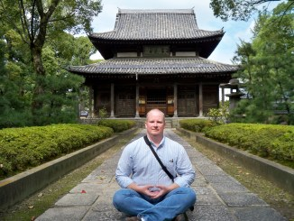 Jim at the Shofukuji Zen Temple in Fukuoka, Japan