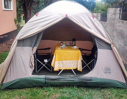 Large, comfortable dining tent for the group
