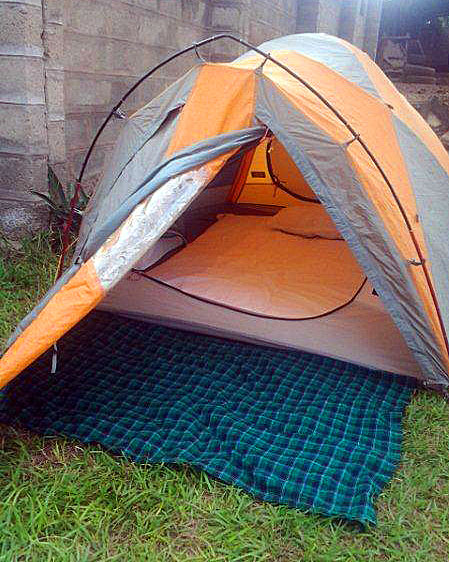 Comfortable mountain tent