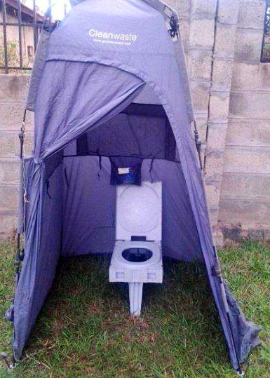 Portable toilet tent