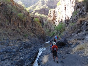 Staring the hike into Ngare Sero Gorge at Lake Natron
