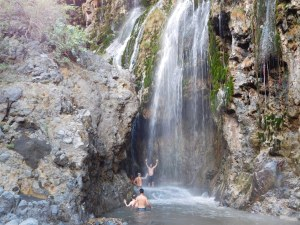 The first set of waterfalls at Natron