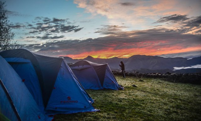 Gorgeous views from cozy campsites