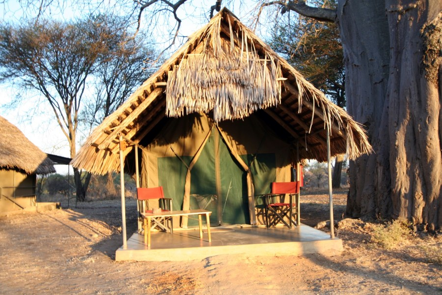 Private tents with deck