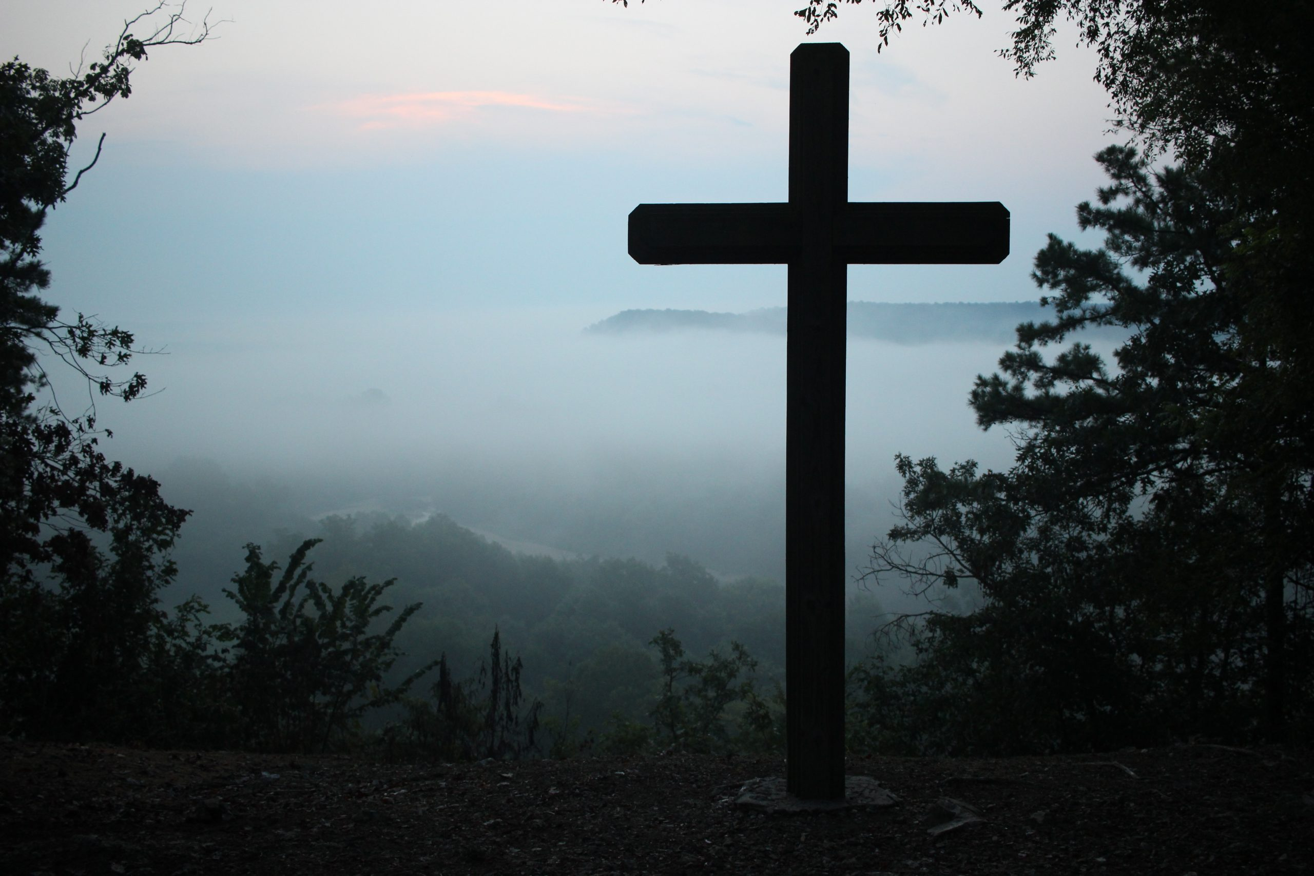 cross before misty view